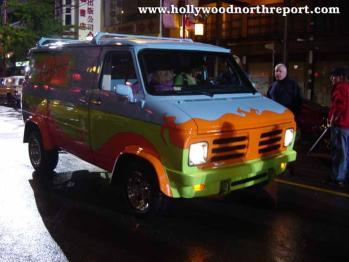 Mystery Machine On Set
