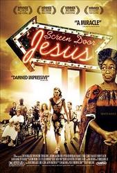 Screen Door Jesus Poster