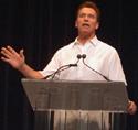 Arnold Schwarzenegger at Seminar