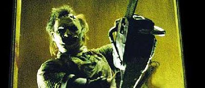 Leatherface in action